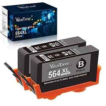 Valuetoner Remanufactured Ink Cartridge Replacement for HP 564XL 564 XL CN684WN for Officejet 4620 Photosmart 7510 5520 5515 5510 B8550 Premium C410 C309A Deskjet 3520 3522  Black 2 Pack