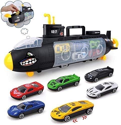 Mini-Druckguss-Kunststoff Spielen Fahrzeug-Trägerauto-Spielzeug-Set 12 in 1 Shark-U-Boot-Transport-Truck-Geburtstags-Party Favors Weihnachten für Kind Kinder Jungen und Mädchen