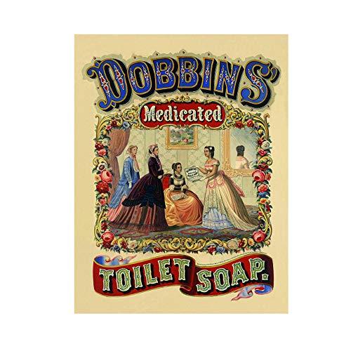 Ecool Dobbins medicinale toilet badkamer zeep retro shabby chic vintage stijl foto metalen muur plaque teken (150mm x 100mm)