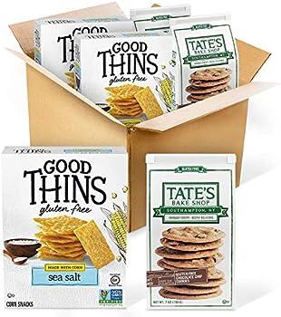 4-Pack Good Thins Sea Salt Corn & Rice Snacks Chocolate Chip Cookies