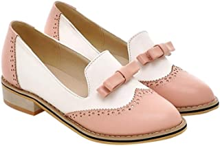 ACHICOO Women Fashion All-match Color Matching Bowknot Shoes