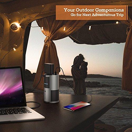 NOVOO Powerbank AC Anschluss 60W Ausgang Steckdose für Laptop Tragbar Ladegerät Externer Akku, für MacBook Pro iPhone Handy Gopro 22500mAh