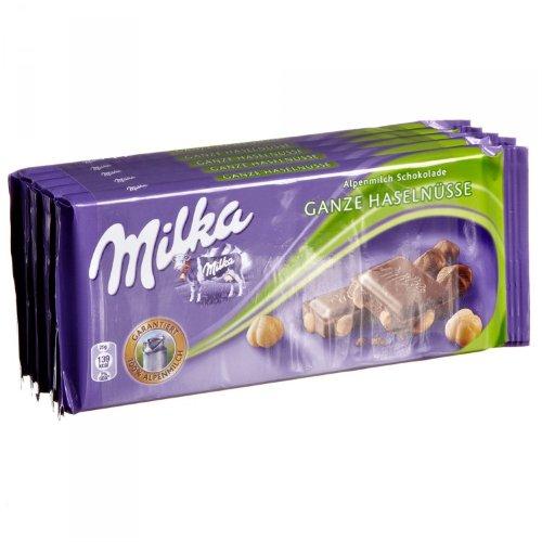 Milka Ganze Haselnüsse - Schokolade 5x100g