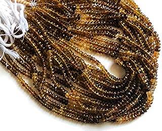 13 inch strand natural petro tourmaline 5-6 mm rondelle faceted beads - jewelry - 13 inch petro tourmaline faceted rondelles, 5-6mm natural petro tourmaline beads, petro tourmaline necklace, tourmaline