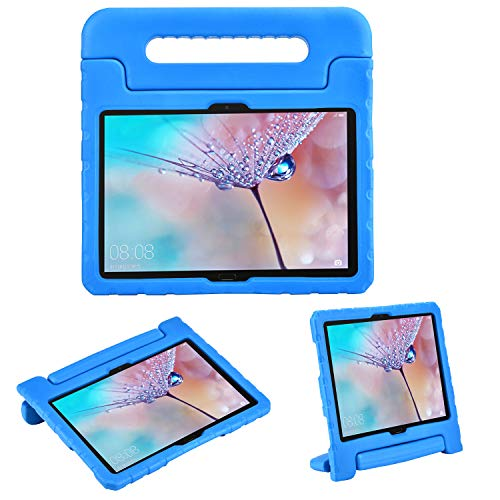 i-original Compatible with Huawei MediaPad M5 Lite 10 Kids Case,Shock Proof Bumper Cover Handle Stand for Huawei MediaPad M5 10.1-in 2018,Convertible Handle Lightweight Protective Cover (Blue)