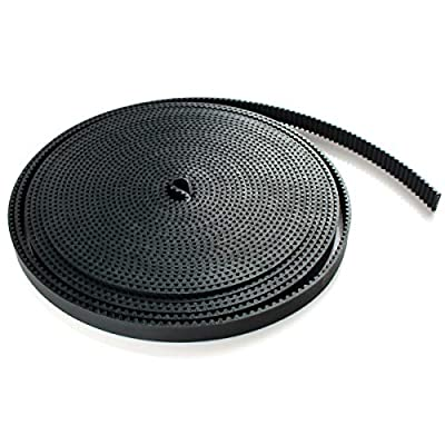 Toaiot 3D Printer GT2 5 Meters (16.4 Ft) Timing Belt Length Open Belt 2mm Pitch 6mm Width Rubber Fiberglass Reinforced for RepRap Prusa i3 CNC
