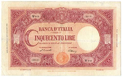 Cartamoneta.com 500 Lire BARBETTI Grande C Testina BI Repubblica Italiana 19/02/1947 MB+