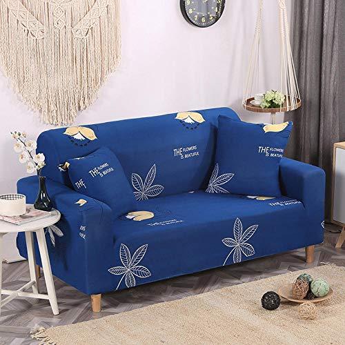 KANG bankovertrek, sofa, antislip overtrek, machinewasbare woonkamer, stretch-sofaovertrek, stretch-stof, meubelbescherming-blauw 13_190-230 cm