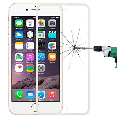 Dmtrab para Protector de Pantalla de Cristal Templado de la Cubierta Completa de Borde Estrecho para iPhone 6/7/8 (Color : White)