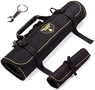 Teutonic Roll Organizer Bag worthy of your EDC - Be organized with 2x pack Rolling Tool Bag - Water Resistant Durable Tool Pouch with 25 Pockets Combination - All in One Roll Up Set - Wrench Organizer