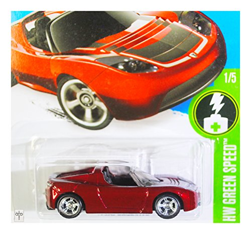 2016 Hot Wheels Super Treasure Hunt HW Green Speed 1/5 - Tesla Roadster 241/250 RARE!!