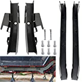 Lonwin Rear Trail Arm and Driver Passenger Center Skid Plate Frame Rust Repair Kit Fit for 1997-2002 Jeep Wrangler TJ