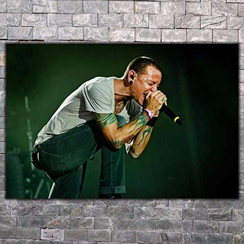 DPFRY Leinwand Malerei Wandkunst Bild Chester Bennington Linkin Park Sänger Rockstar Poster Drucken Leinwand Malerei Ohne Rahmen 40 * 60 cm