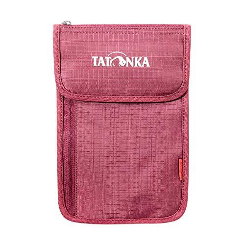 Tatonka Neck Wallet Pochettes Tour de Cou Mixte-Adulte, Rouge Bordeaux, 14 x 22 x 1 cm