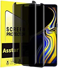 Galaxy Note 9 Privacy Screen Protector, Asstar Anti Spy Anti-Scratch Anti-Fingerprint Bubble Free Case Friendly Easy Install 9H Hardness Tempered Glass Screen Protector for Samsung Galaxy Note 9 [2 P]