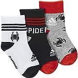 adidas Marvel Little Kids Spiderman 3pp Ankle Socks Baby Kinder S Mehrfarbig (Weiß/Schwarz/Mittelgrau-meliert)