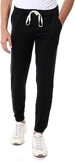 Off Cliff Cotton Drawstring-Elastic Waist Slim-Fit Sweatpants for Men