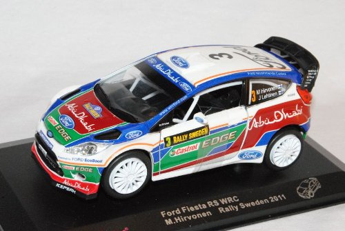 Saico Ford Fiesta WRC Rally Schweden 2011 Hirvonen 1/32 Modell Auto mit individiuellem Wunschkennzeichen