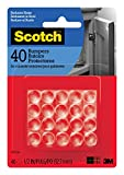 Scotch Bumpers, Clear, 1/2-in, 40 Bumpers/Pack