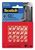 Scotch Bumpers, Clear, 1/2-in, 40 Bumpers/Pack (SP951-NA)