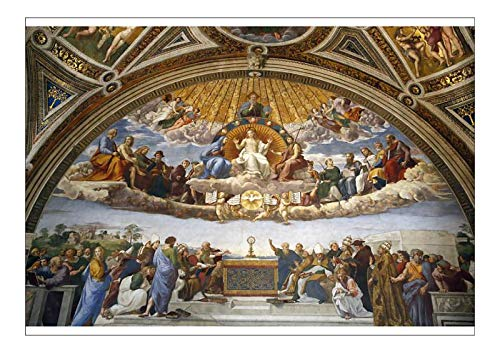robertharding A1 Poster of Raphael s Rooms, Disputation of The Holy Sacrament, Vatican Museum, Rome (19957270)