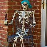 WTNL Articulación de Esqueleto Humano articulado Decoración de Fiesta de Halloween Decoración de Arte Naturaleza Decoración del hogar Decoración de Halloween