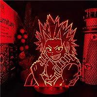 GMYXSW 3D夜ライトマイヒーローアカデミアLEDランプ霧島エイジロアニメBOKUのヒーローアカデミアランガラデ・ノッチベッドルームクリスマスクリスマスホリデープレゼント