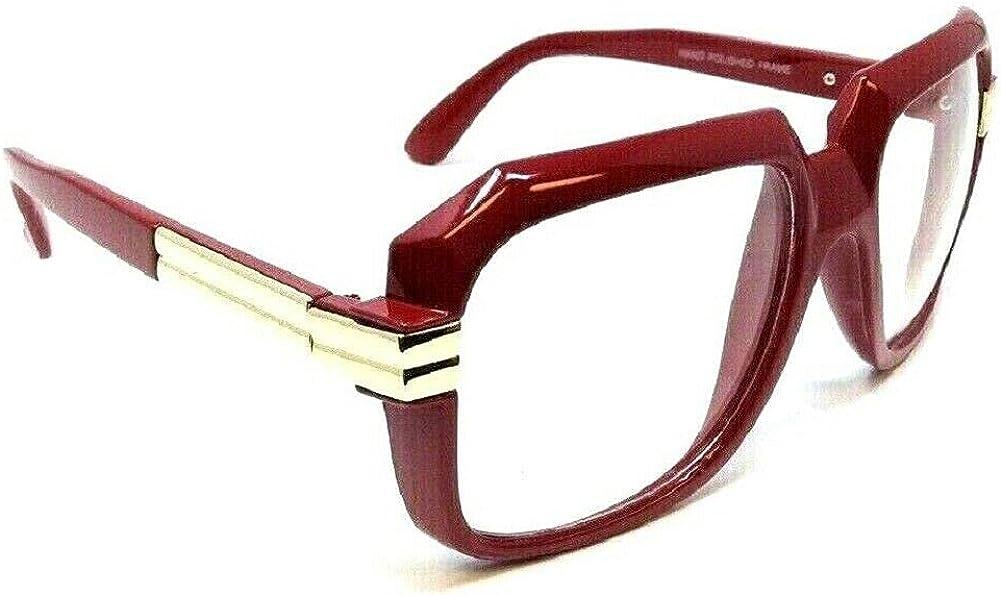 Gazelle Emcee Oversized Square Sunglasses w/ Clear Lenses