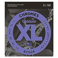 D'Addario ECG24 フラットワウンド エレキギター弦×5セット