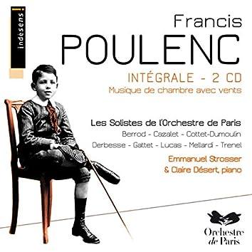 Francis Poulenc : intégrale musique de chambre avec vents