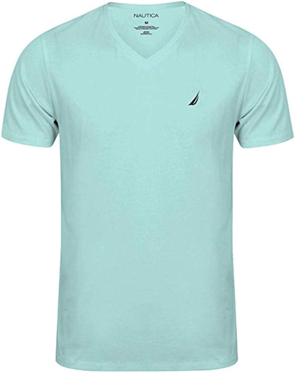 Nautica Men's Short Sleeve Solid Classic fit Fit V-Neck T-Shirt