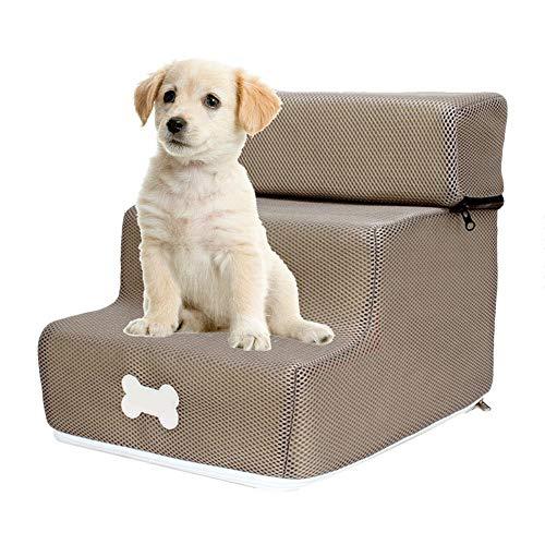 soundwinds - Escalera para Perros de 3 peldaños - Escalera extraíble - Escalera Antideslizante extraíble para Animales domésticos - Sofá Cama para Perros pequeños