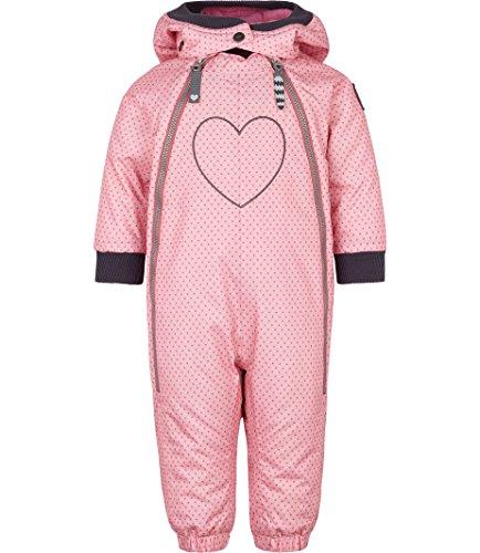 Racoon Baby-Mädchen SIA DOT Wassersäule 9.000 Schneeanzug, Mehrfarbig (Sea Pink Pin), 86