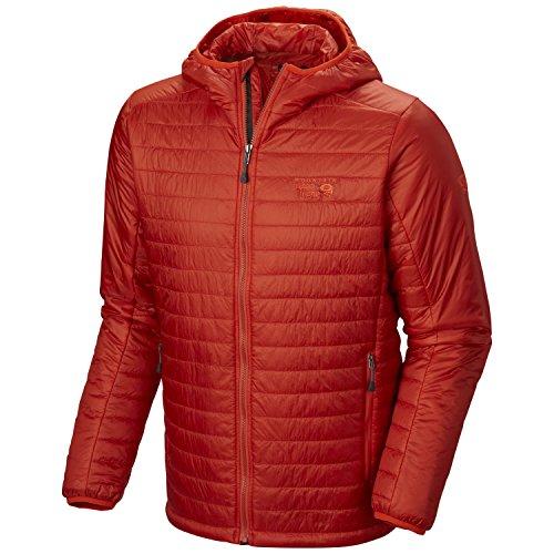 Mountain Hardwear om6744Daunenjacke Kapuzenpullover Herren Gr. Medium, Flame