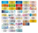 Adress-Etiketten - Adress-Aufkleber Sticker Namensaufkleber mit Ihrem Wunschtext 57x 23mm
