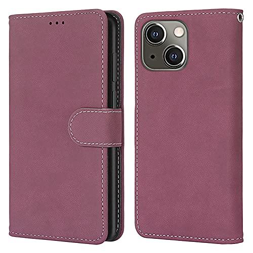nancencen Kompatibel mit Nokia Lumia 625 Handyhülle,Wallet Karten Slot Vintage Gefrostet Flip Cover Schutzhülle (Anti-Fall) für Nokia Lumia 625 - Rose Red
