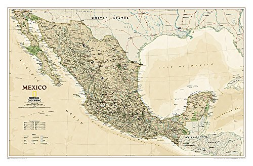 Mexico Executive: Wall Maps Countries & Regions (National Geographic Reference Map)
