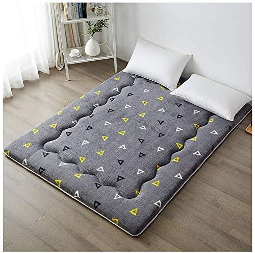ZXL Japanse matras Thicken Futon Tatami Cushion, voetmat, kasjmier matras, anti-slip kussen, opvouwbaar matras (kleur: camel, maat: 53,14 x 78,7 cm)