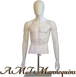Male Mannequin Torso w/Head Countertop Display (YMT1-BT)