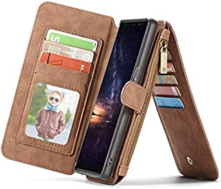 Samsung Galaxy Note 9 Multi-Function Mobile Phone Case with 14 Card Slots and Wallet - Brown