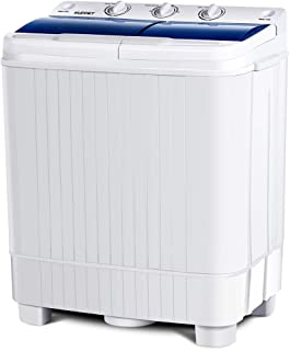 KUPPET Portable Washing Machine, 17lbs Compact Twin Tub Washer and Spin Dryer Combo for Apartment, Dorms, RVs, Camping and More (Type2)