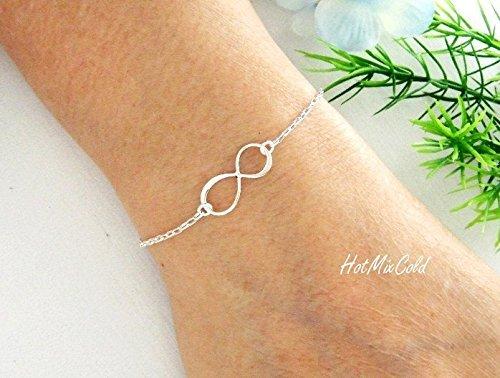Friendship Bracelet Sterling Silver Bracelet Forever Bracelet Eternity Bracelet Open Circle Bracelet