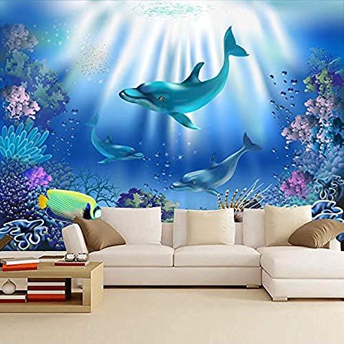 Personalizzato Marine Underwater World Sfondo Carta da parati Baby Swimming Pool boy Girl Room Decor Carta da parati fotomurali poster murale Soggiorno camera letto minimalista tv sfondo-400cm×280cm