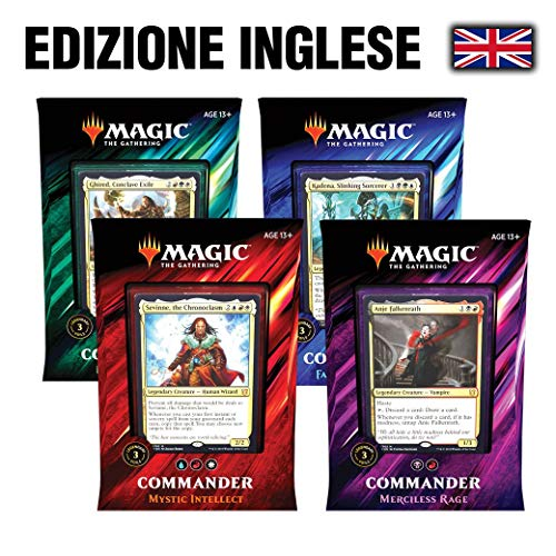 Magic The Gathering MTG: Commander 2019 - Set 4 Decks (ENG)