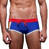 Mxssi Homme Maillot de Bain/Short de Bain/Shorts de Plage/Boxer Shorts Larges/Surf Pants Swimwear Doux Confortable