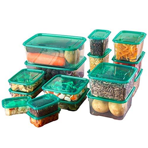 CWYP-MS 17pcs / Set Cocina Microondas Horno Refrigerador Sello de refrigerador Caja de Almacenamiento Caja de Almacenamiento de plástico Transparente
