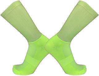 3 pares de calcetines antideslizantes para ciclismo sin costuras Moldeado integral Calcetines de bicicleta de alta tecnología Compresión de bicicleta Calcetines deportivos para correr al aire libre