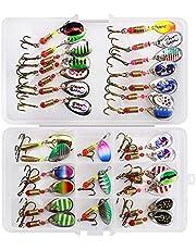 SKYSPER Señuelos de Pesca Kits de Señuelos Pesca Accesorios Cebos Artificiales Articulos de Pesca con Ganchos Señuelo para Pescar Estuche para Señuelos con Accesorios