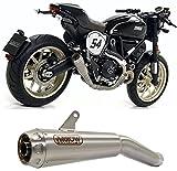 arrow tubo de escape nocat race pro-race titanio fondo titanio compatible con ducati scrambler 800 cafe racer 2017 2018 2019 mototopgun 71212pr