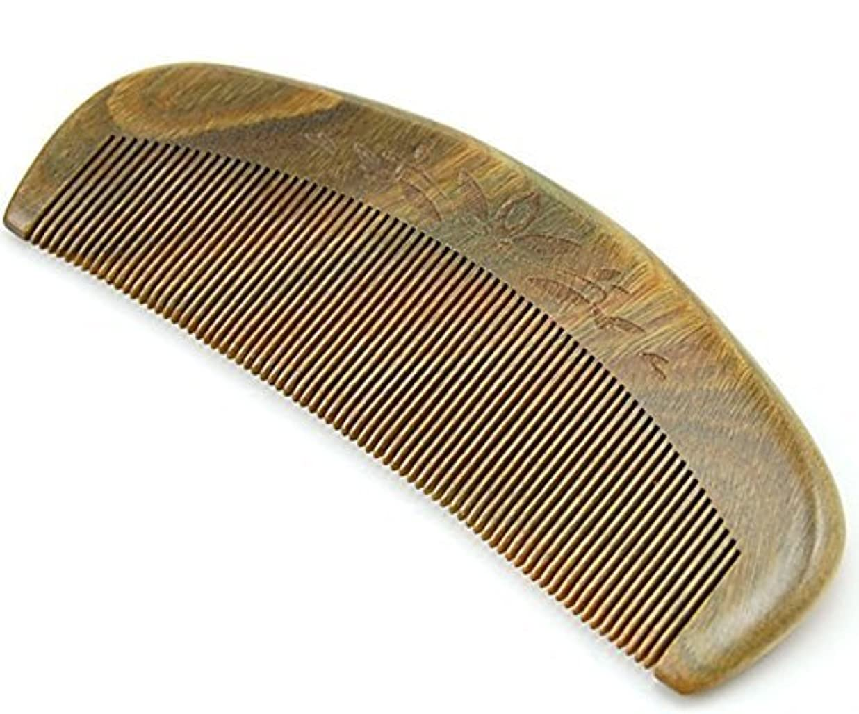 Joyo Natural Green Sandalwood Fine Tooth Comb, Anti Static Pocket Wooden Comb 5